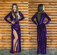 Фиолетовое платье 152040 в пол