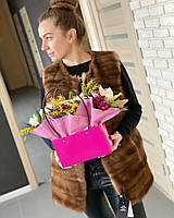 Женская норковая жилетка размер L