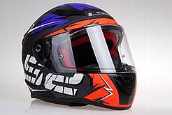 Мото шлем LS2 FF353 RAPID CROMO Orange Fluo Blue Matt