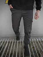 Штаны карго брюки мужские весенние осенние качественные серые Softshell light Intruder
