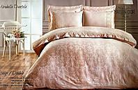Комплект постельного белья Maison D'or Mirabella Dantela Beige жакардовый 220-200 см бежевый
