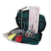 Набор инструментов Lineaeffe для вязания мушек 12 наимен.(станок,ножницы,пинцет,нитки,перья)(в картонной