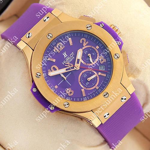 Яркие наручные часы Hublot Big Bang AAA Purple/Gold/Purple 1259