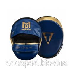 Лапы TITLE Jeff Mayweather's Doom Mitts синий/золотой + сертификат на 150 грн в подарок (код 179-574953)