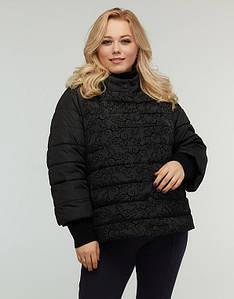 Короткая весенняя женская куртка больших размеров 48-68