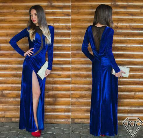 Платье электрик 152040 в пол, фото 2