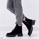 Женские ботинки ДЕМИ черные натуральная замша весна/осень, фото 6
