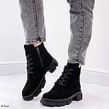 Женские ботинки ДЕМИ черные натуральная замша весна/осень, фото 5