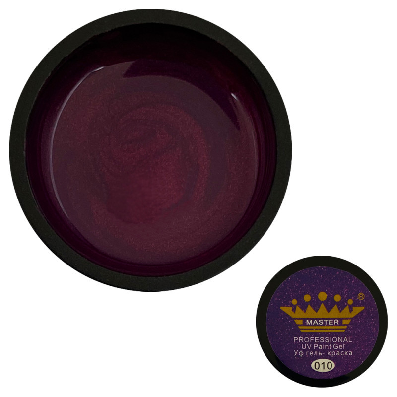 Гель фарба для нігтів Master Professional №010, 5 гр.