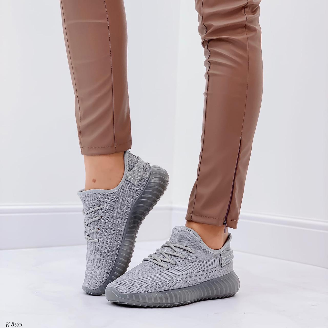 Кросівки жіночі сірі текстиль весна/літо/ осінь