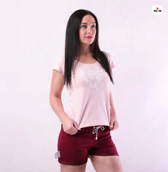 Костюм женский футболка и шорты летний трикотажный для девушек р.42-54