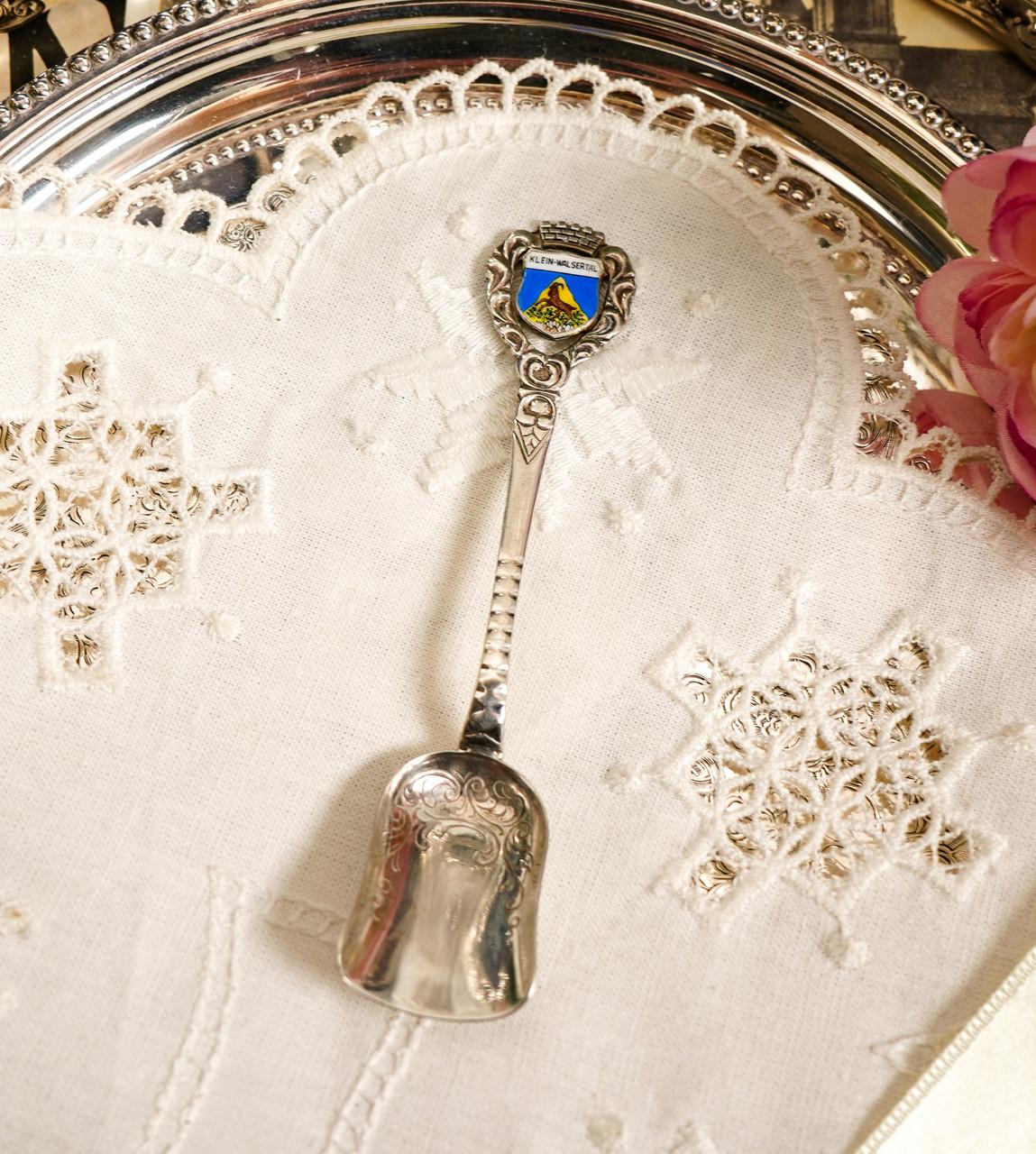 Коллекционная серебряная ложка, Kleinwalsertal, серебро 800 пробы, Австрия