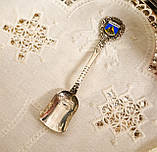Коллекционная серебряная ложка, Kleinwalsertal, серебро 800 пробы, Австрия, фото 2