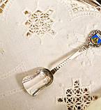 Коллекционная серебряная ложка, Kleinwalsertal, серебро 800 пробы, Австрия, фото 3