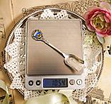 Коллекционная серебряная ложка, Kleinwalsertal, серебро 800 пробы, Австрия, фото 6
