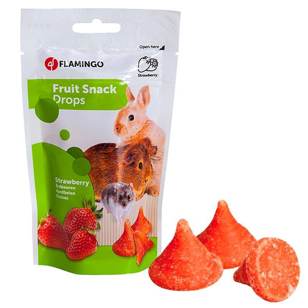 Flamingo Drops Strawberry ФЛАМИНГО ДРОПСЫ С КЛУБНИКОЙ лакомство для грызунов