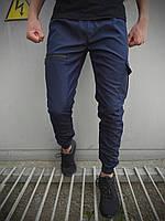 Штаны карго брюки мужские весенние осенние качественные синие Softshell Flash light Intruder