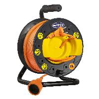 Подовжувач SVITTEX на котушці 25 м. 2х2,5 мм2 з виносною розеткою.