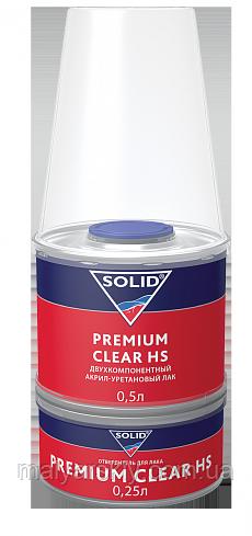 Лак акриловий 2:1 PREMIUM CLEAR HS 0,5л+0,25л  SOLID