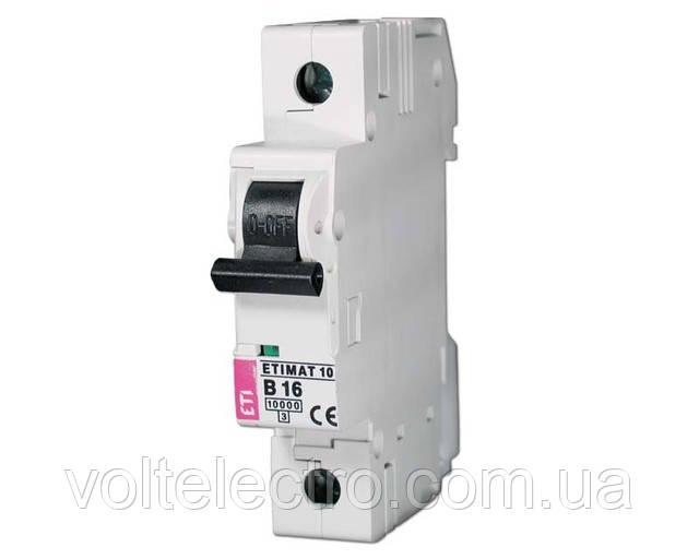 Автоматические выключатели ETIMAT 10AC 10 A 1p