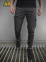 Штаны карго брюки мужские весенние осенние качественные серые Softshell Flash light Intruder