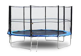 Батут FunFit 435 см захисною сіткою + сходи (Спортивний батут)