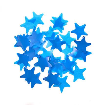 Конфетті зірки сині, 35 мм (50 г), фото 2