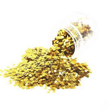 Конфетті дрібне золото, 3 мм (камифубуки) 50 г, фото 2