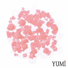 Конфетті квадратики персиковий пастель, 8 мм (50 г)
