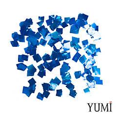 Конфетті квадратики синій металік, 8 мм (50 г)