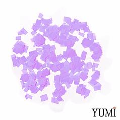 Конфетті квадратики бузковий пастель, 8 мм (50 г)