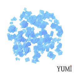 Конфетті квадратики блакитний пастель, 8 мм (50 г)