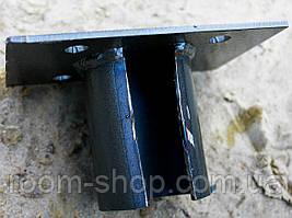 Оголовники (оголовки, пластини, фланці) до паль діаметром 133 мм майданчик 150х200 мм (паля, палячи), фото 2