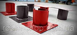 Оголовники (оголовки, пластини, фланці) до паль діаметром 133 мм майданчик 150х200 мм (паля, палячи), фото 3