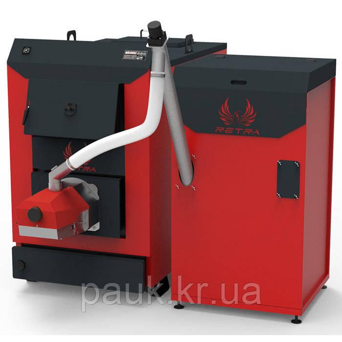 Пеллетный котел 150 кВт Retra Light Combi, промышленный твердотопливный котел с бункером