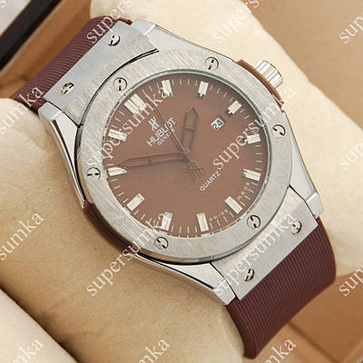 Деловые наручные часы Hublot Big Bang AA quartz Brown/Silver/Brown 1254