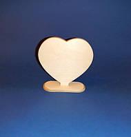 Сердце на подставке заготовка для декупажа и декора