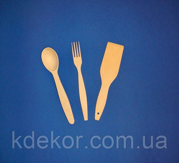 Набор ложка+вилка+лопатка заготовки для декупажа и росписи