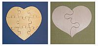 Сердце-пазл №2 заготовка для декупажа и декора
