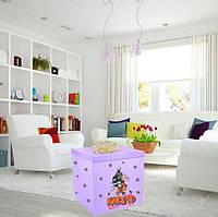 """Коробка-сюрприз большая 70х70см с наклейками + декор (цвет любой) в тематике """"Наруто"""""""