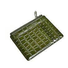 Кошелек картхолдер для удостоверения и купюр на 6 карт крокодиловый зеленый