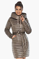 Капучиновая осенне-весенняя куртка Braggart с капюшоном женская модель 66870