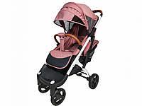 Прогулянкова Коляска Yoya Plus Max 2021 Пурпурно-рожевий рама біла, фото 1