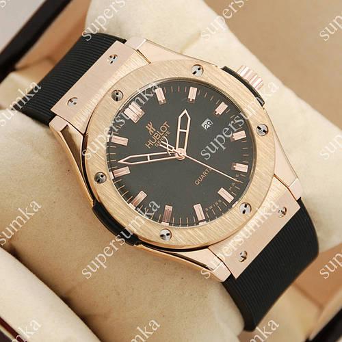 Кварцевые наручные часы Hublot Big Bang AA quartz Black/Gold/Black 1255