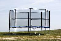 Батут FunFit 490 см з захисною сіткою + сходи (Спортивний батут), фото 1