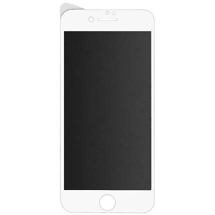 Защитное стекло для iPhone 7 Plus/8 Plus Matte CERAMIC Антишпион white, фото 2