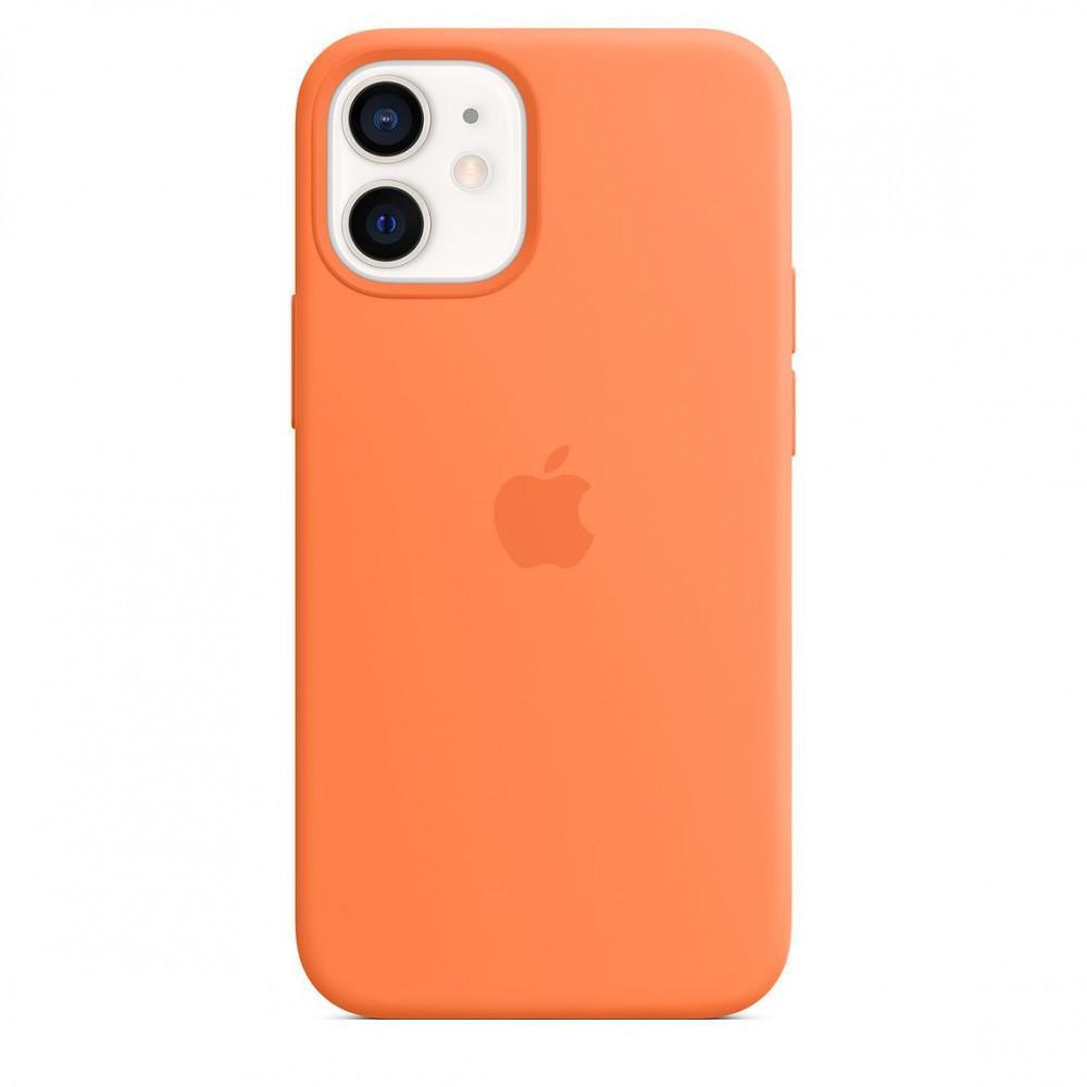 Чехол накладка xCase для iPhone 12 Mini Silicone Case Full kumquat