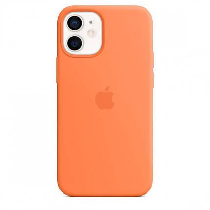 Чехол накладка xCase для iPhone 12 Mini Silicone Case Full kumquat, фото 2