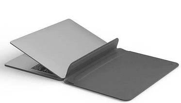 Папка конверт Wiwu Skin Pro2 Leather для MacBook 16'' gray, фото 3