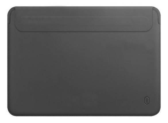 Папка конверт Wiwu Skin Pro2 Leather для MacBook Air 13,3'' (2018) gray, фото 2